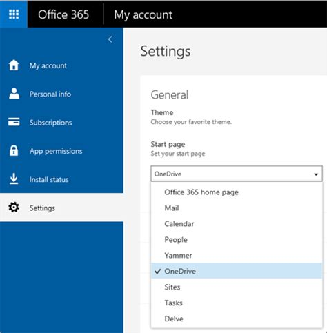 Office 365 Portal Default Page Personalize Your Office 365 Experience Office 365