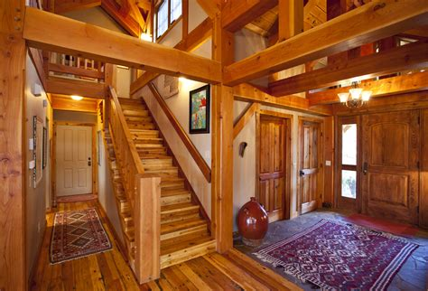 mountain retreat timber frame residential project photo