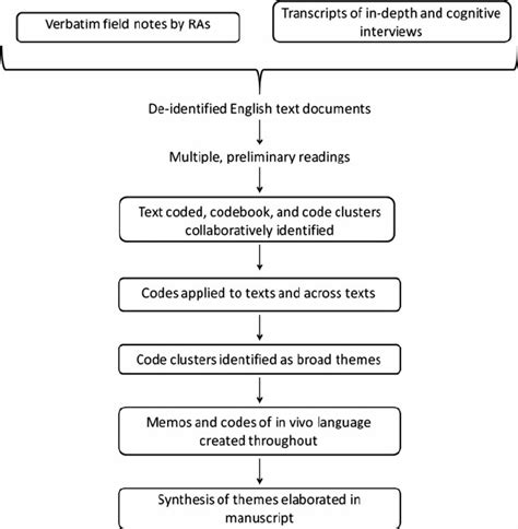 conceptual outline of qualitative data analysis pathway