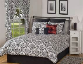 King Size Duvet Covers And Matching Curtains 4pc Black White Classic Medallion Damask Comforter Set Cal