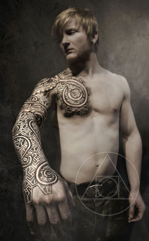 nordic tribal tattoo urnes armor blackhand nomad madsen