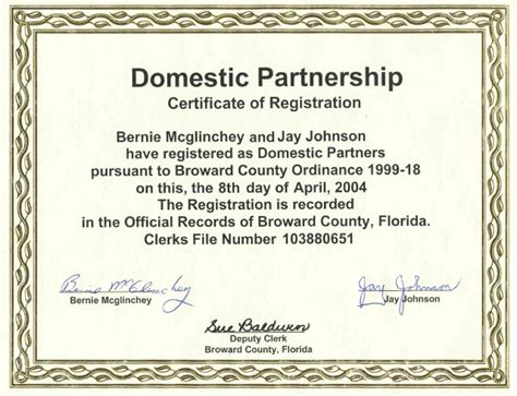 Marriage vs domestic partnership washington state