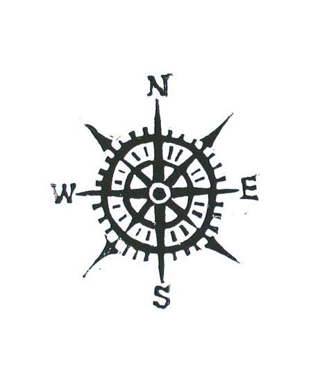 compass tattoo einfach compass linocut print cardinal directions letterpress