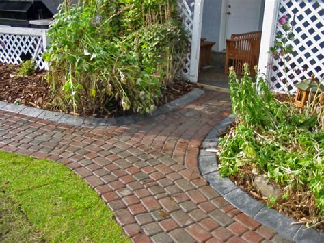 brick walkway with curbing morgan k landscapes