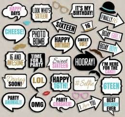 photo booth speech template sweet sixteen birthday speech bubbles props diy