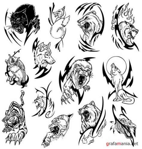tribal animal tattoo designs tribal animal
