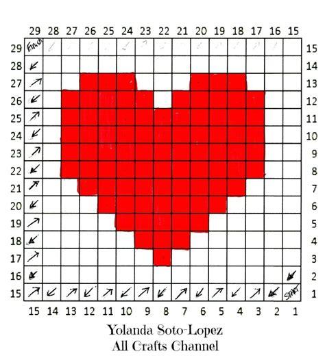 heart grid pattern crochet heart easy c2c corner to corner heart square