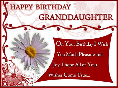 Happy Birthday Wishes For A Granddaughter Birthday Wishes For Granddaughter Birthday Images Pictures