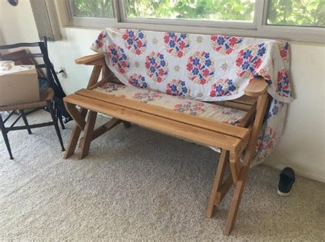 convertible table bench build a picnic table and bench in one diy picnic table