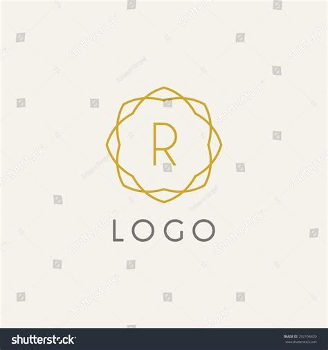 hipster template logo modern lineart logo stock vector