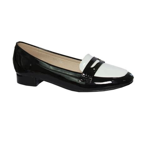 black and white loafer emella black white loafer