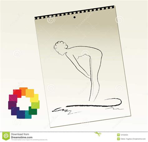 free drawing pad artist sketch pad stock images image 12132354