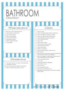 Bathroom List Of Items Clean The Bathroom Cleaning 365