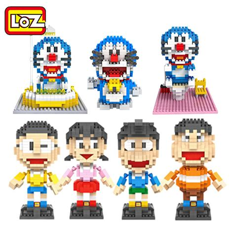 Lego Loz Doraemon Mini Blocks loz doraemon noby sneech shizuka big g toys blocks building blocks figures anime