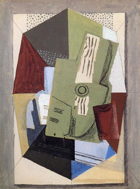 braque collage guitar and sheet on table georges braque wikiart