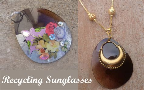 reuse gold to make new jewelry sunglasses pendant 183 how to make a recycled necklace