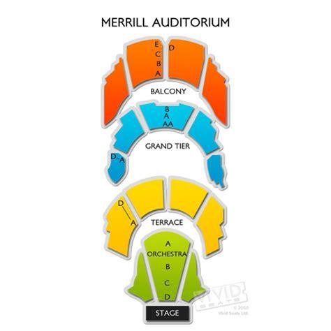 merrill auditorium seating map merrill auditorium seating chart seats