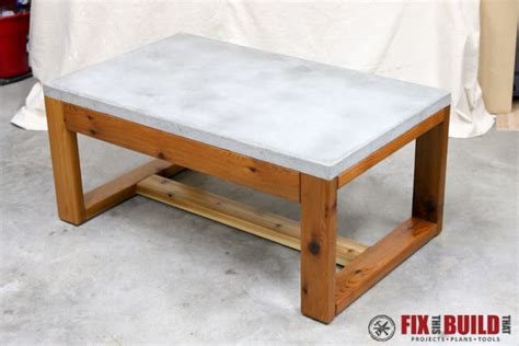 concrete top coffee table diy concrete top outdoor coffee table fixthisbuildthat