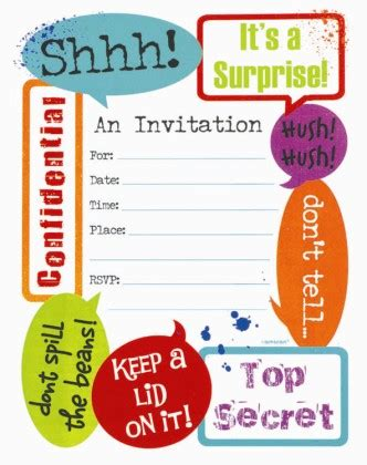 surprise party invitation template cimvitation