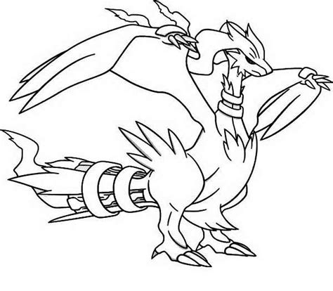 pokemon coloring pages of zekrom and reshiram pokemon reshiram pokemon coloring pages pinterest