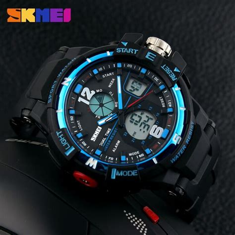 Skmei Sport Analog Led Water Resistant Ad1148 Jam Tangan skmei jam tangan sporty digital analog pria ad1148 black blue jakartanotebook