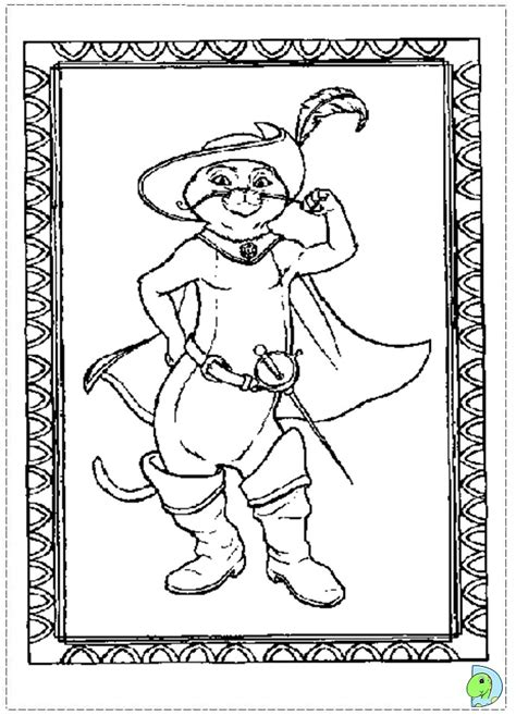 Puss In Boots Coloring Page Dinokids Org And The Tr 2 Coloring Pages