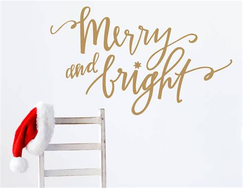 gold wall stickers gold merry and bright wall sticker contemporary wall stickers