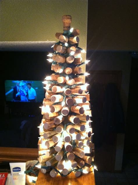 my wine cork christmas tree crafty pinterest