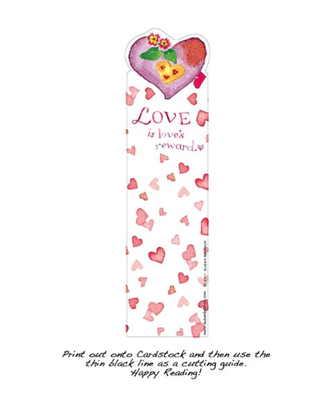printable reward bookmarks love s reward bookmark susan branch blog