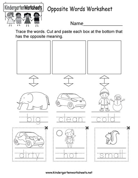 this is an opposite words worksheet you can download