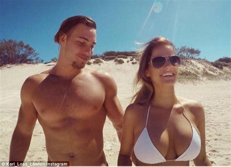 Gold Coast Titans Star Karl Lawton Who Is An Underwear Model And Glamorous Girlfriend Rosie Van