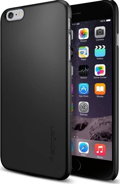 Iphone 6 6s Spigen Leather Fit Black spigen thin fit smooth black iphone 6 6s plus skroutz gr