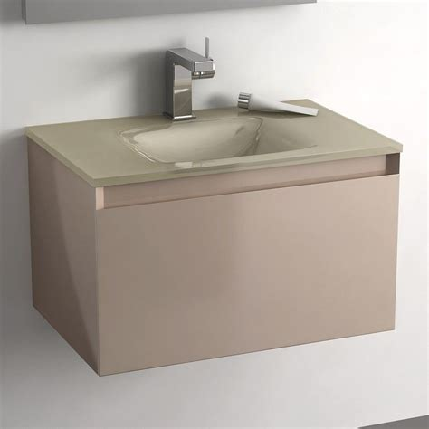 meuble salle de bain tiroir meuble salle de bain taupe 60 cm 1 tiroir plan verre glass