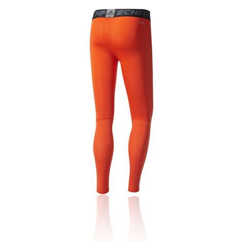 adidas techfit tough mens orange compression running tights bottoms ebay