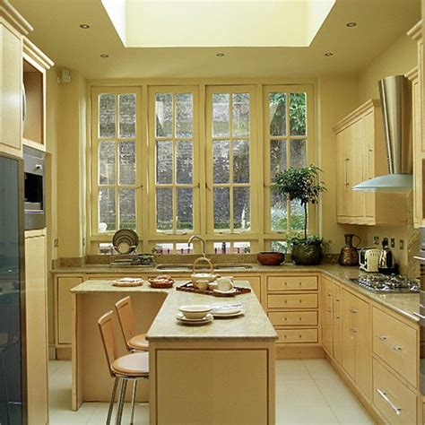 art deco kitchen ideas kitchen with wooden units and breakfast bar housetohome
