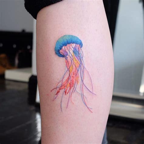watercolor tattoo vs regular tattoo traditional style jellyfish tattoogrid net