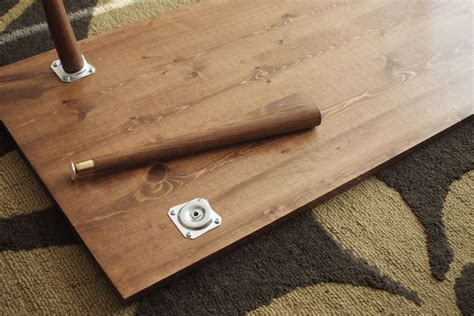 diy coffee table legs diy mid century modern coffee table bartlett design