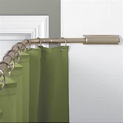 retractable shower curtain titan neverrust aluminum curved retractable rod in