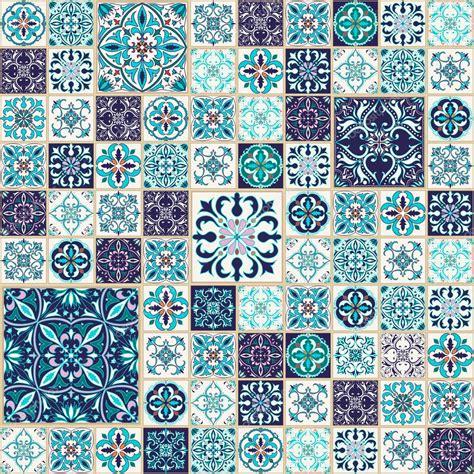 textura transparente de vector patron de mosaico hermoso