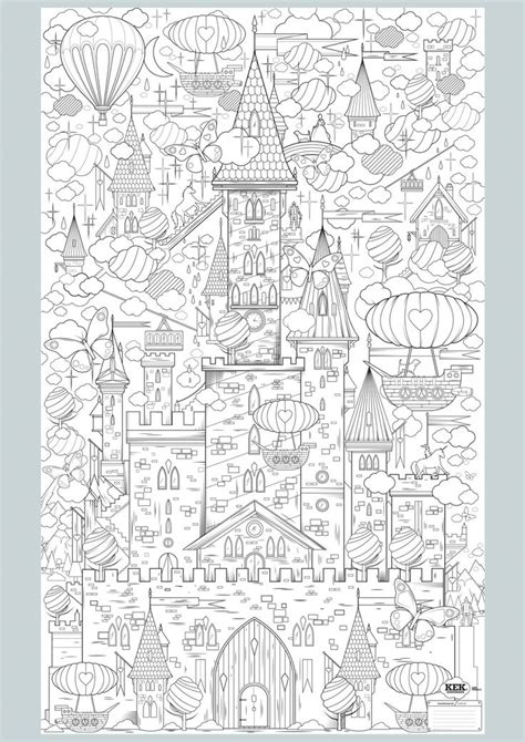 coloring castle mandala pages kleurplaten 2 picmia