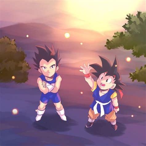 anoboy dragon ball junior dbz vegeta jr and goku jr 3 dragon ball z pinterest