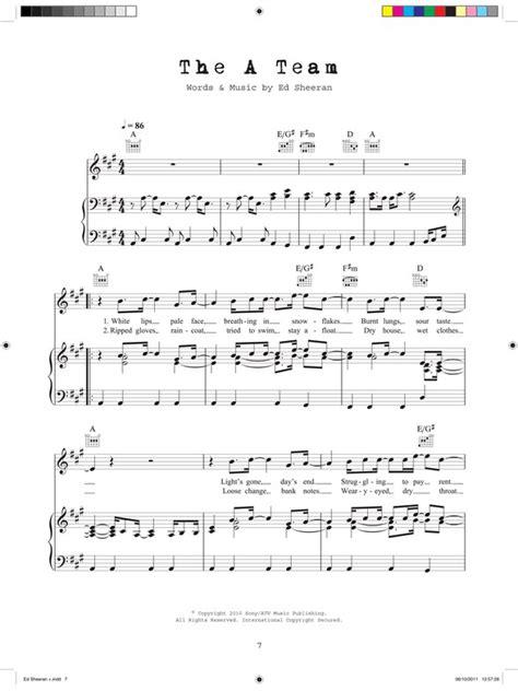 ed sheeran voice type ed sheeran pvg piano vocal guitar sheet music