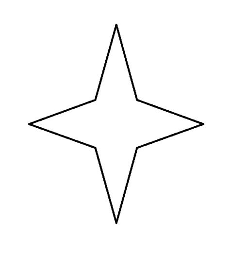 printable north star star shape template clipart best