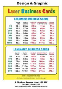 business card printing price list business cards