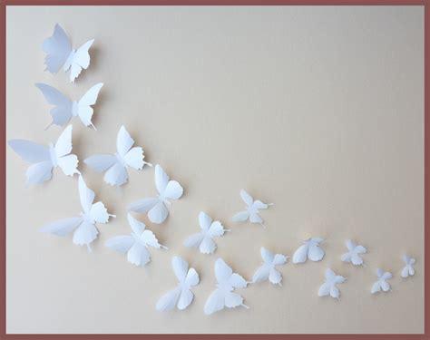 butterflies home decor 3d wall butterflies 10 white butterfly silhouettes by bugsloft
