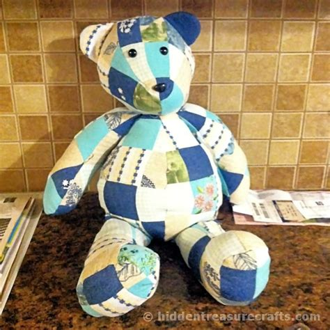 memory bears free printable pattern from clothing how to make a memory bear hidden treasure crafts and