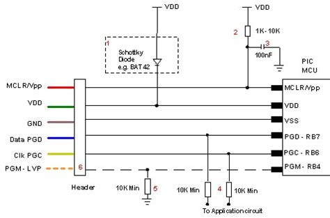 mclr resistor value microchip pic programmer icsp circuit guide
