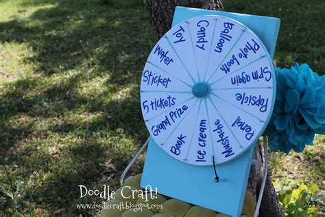 How To Make Spin Wheel Out Of Paper - doodlecraft spinning prize wheel diy