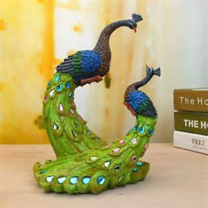 unique gifts home decor painted couple peacock wedding gifts unique delicate home