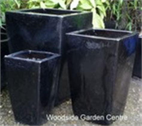 Fibreclay Planters Wholesale by Large Black Glazed Taper Pot Planter Woodside